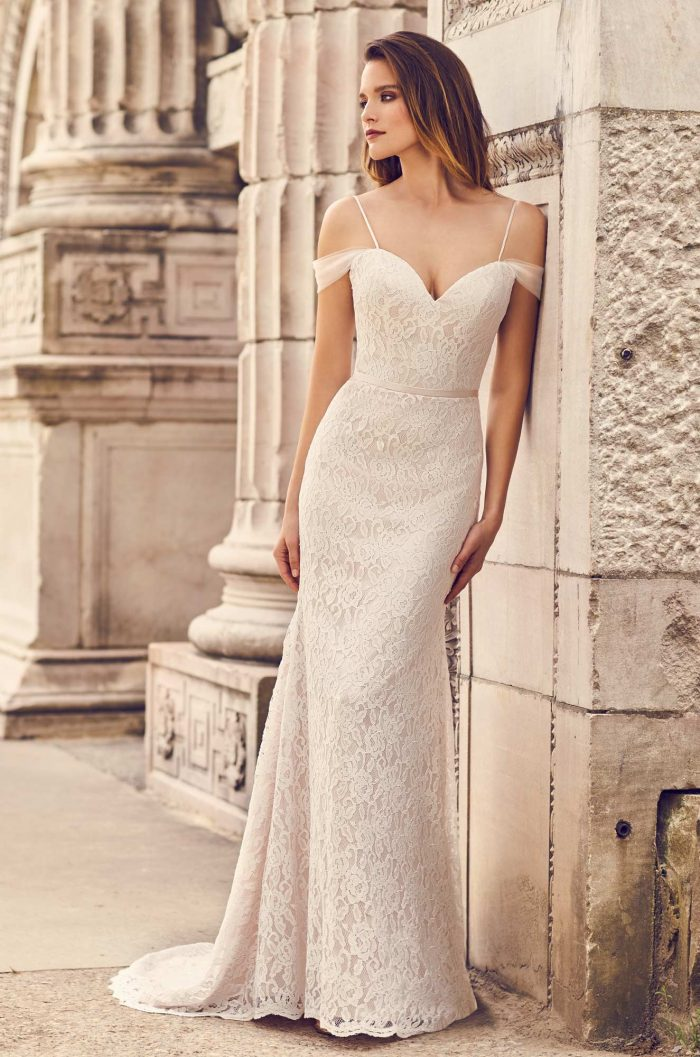 Draped Tulle Sleeve Wedding Dress Style 2228 Mikaella Bridal,Country Wedding Dresses For Mother Of The Groom