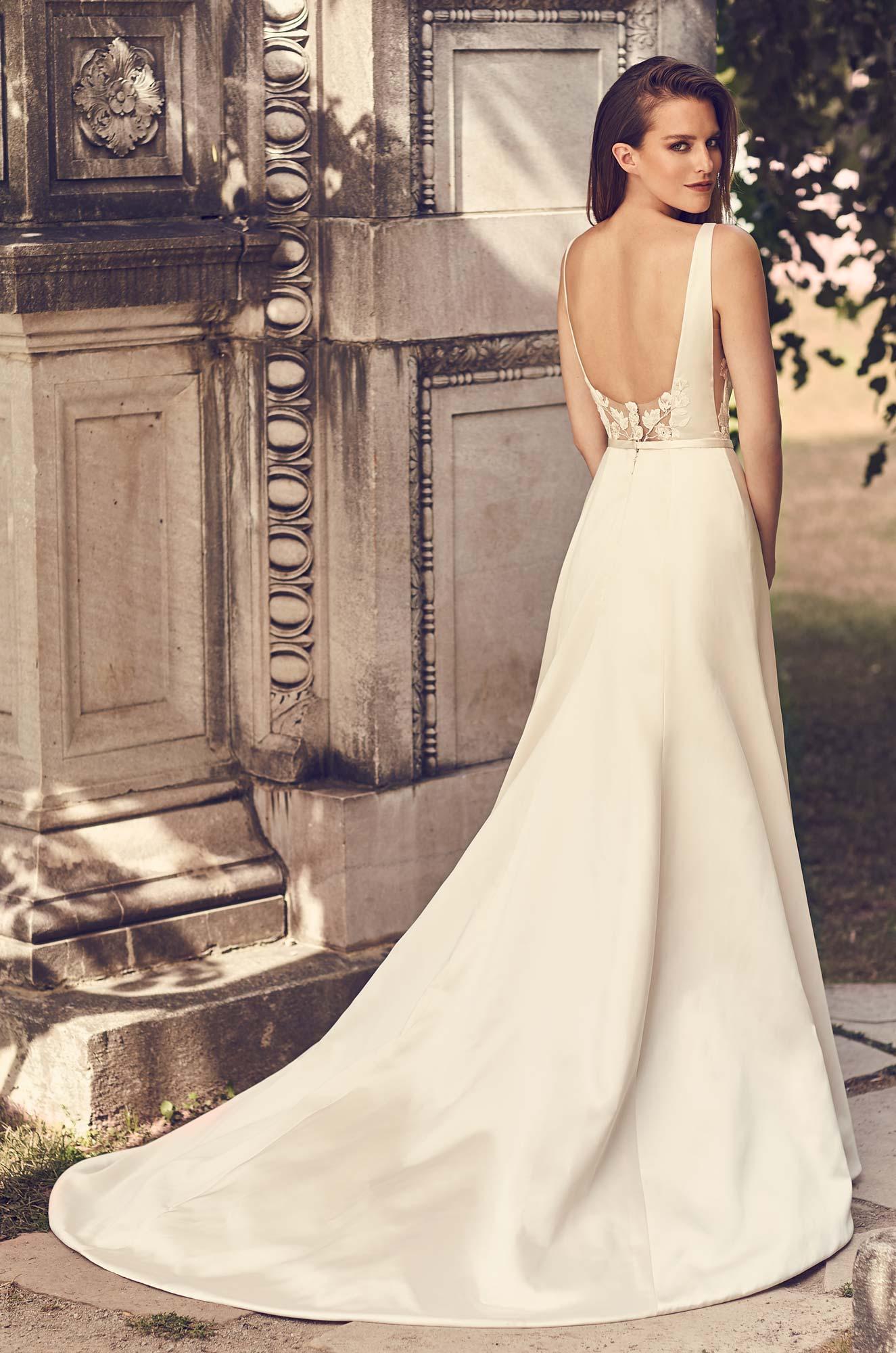 Flattering Duchesse Satin Wedding Dress - Style #2230 | Mikaella Bridal