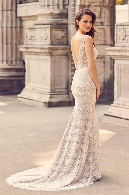 Ornate Lace Sleeveless Wedding Dress - Style #2231 | Mikaella Bridal