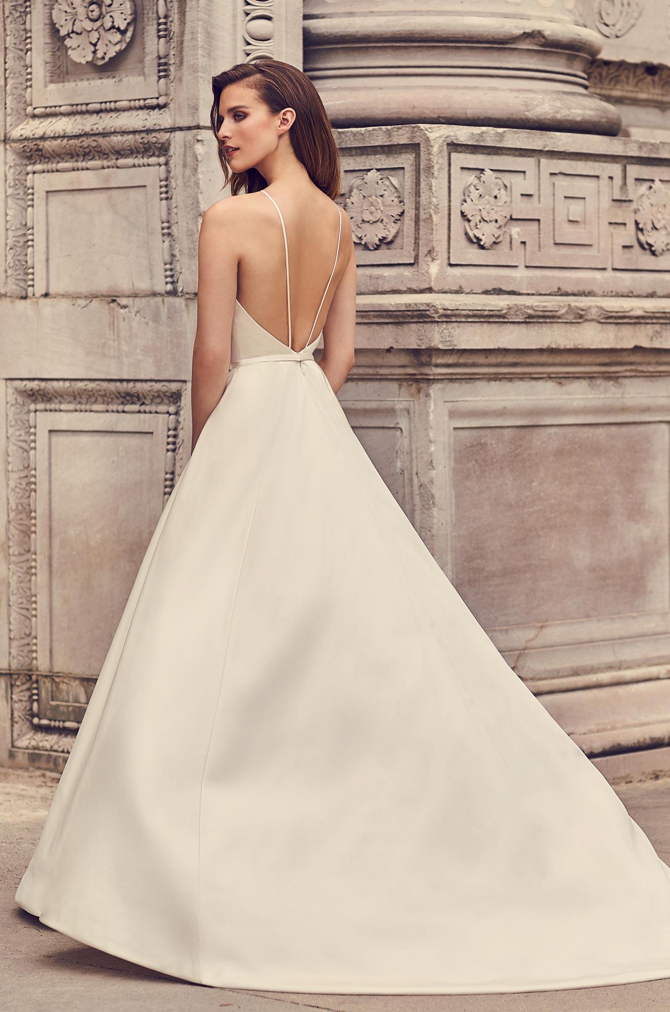 Halter Neckline Ball Gown Wedding Dress Style 2236 Mikaella Bridal