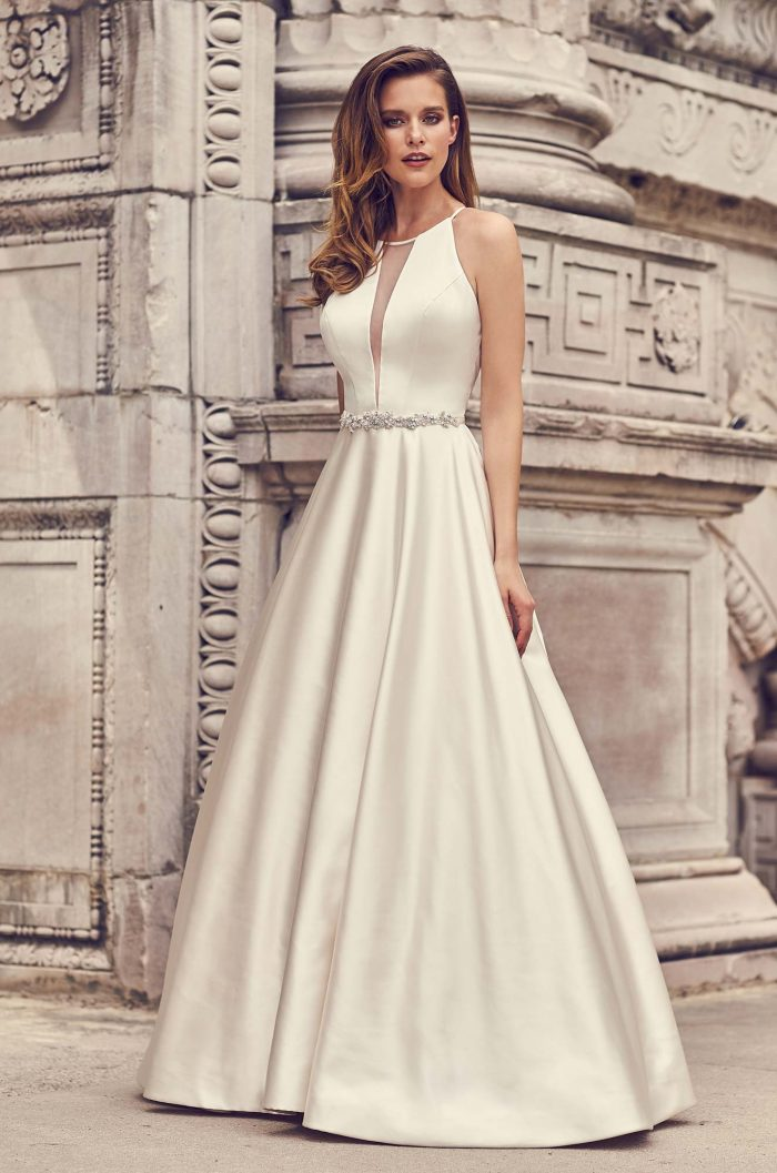 Halter Neckline Ball Gown Wedding Dress - Style #2236 | Mikaella Bridal