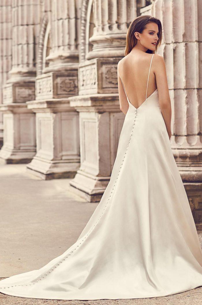 Square Neckline Satin Wedding Dress Style 2238 Mikaella Bridal