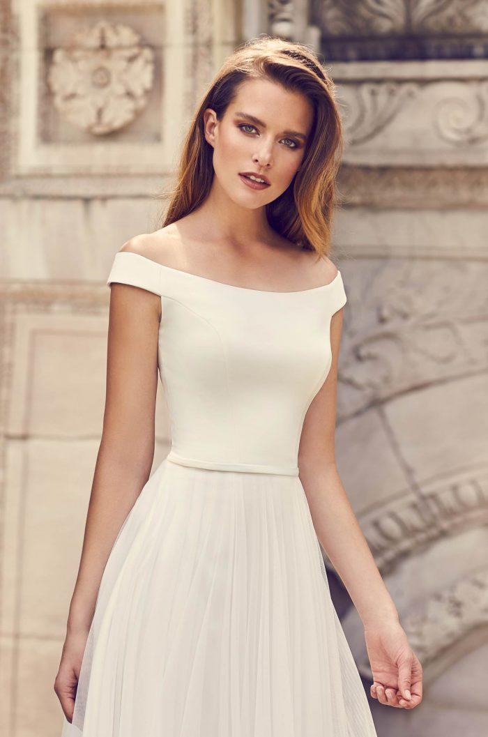 Romantic Tulle Skirt Wedding Dress - Style #2244 | Mikaella Bridal