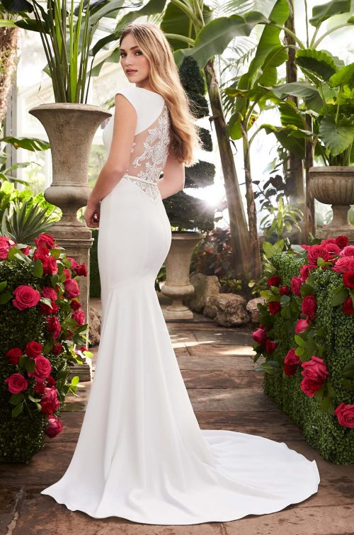 Statement Back Wedding Dress - Style #2250 | Mikaella Bridal