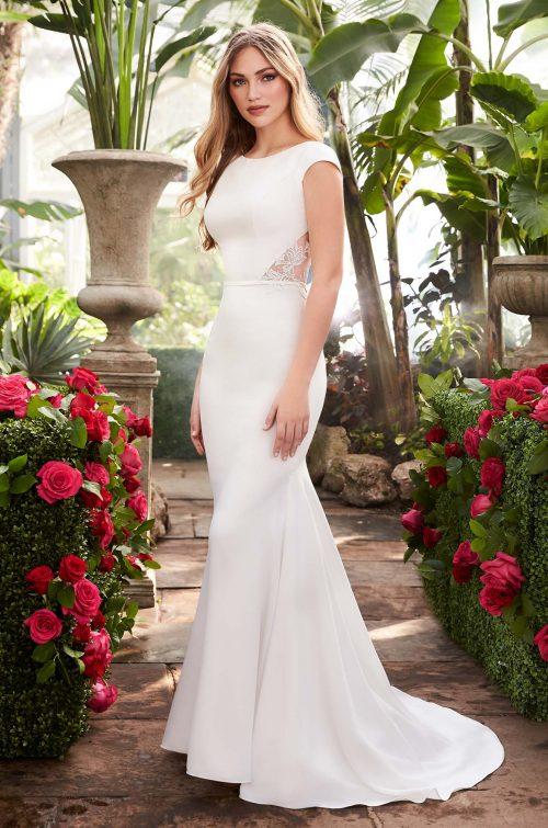 Statement Back Wedding Dress - Style #2250   Mikaella Bridal