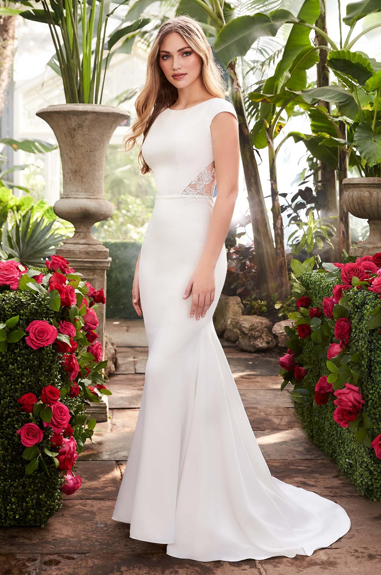 Statement Back Wedding Dress - Style #2250 | Mikaella Bridal