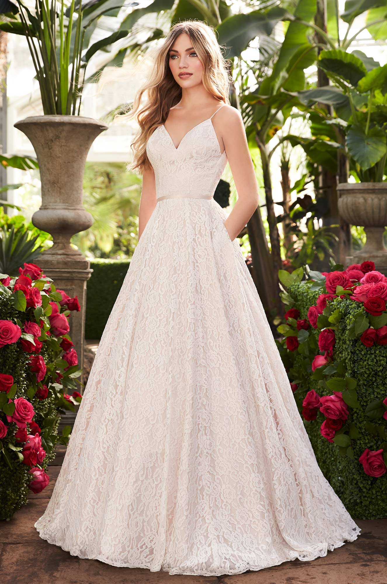Lace Wedding Dress With Pockets – Style #2251 | Mikaella Bridal
