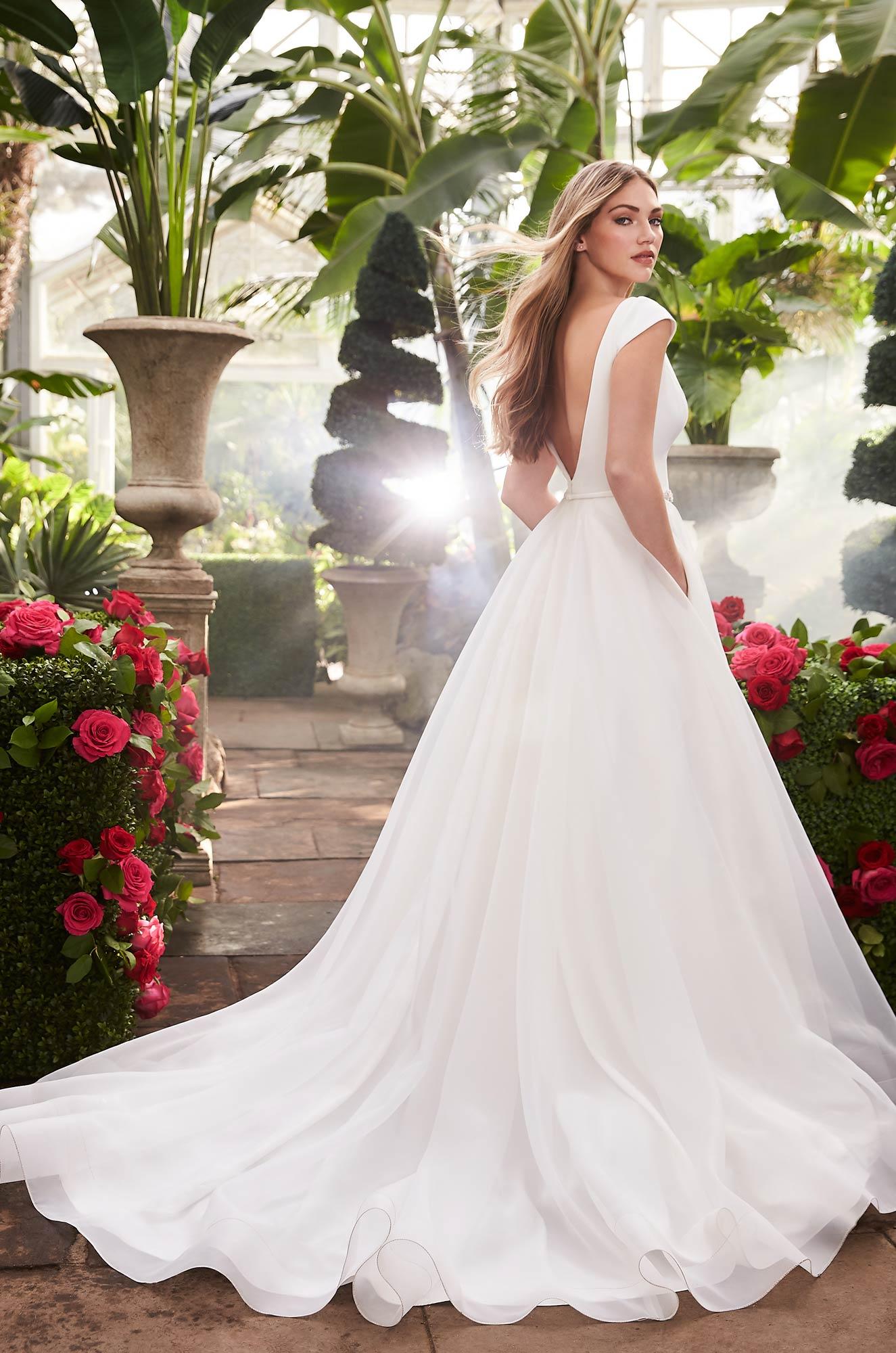 Breathtaking Cap Sleeve Wedding Dress - Style #2253 | Mikaella Bridal