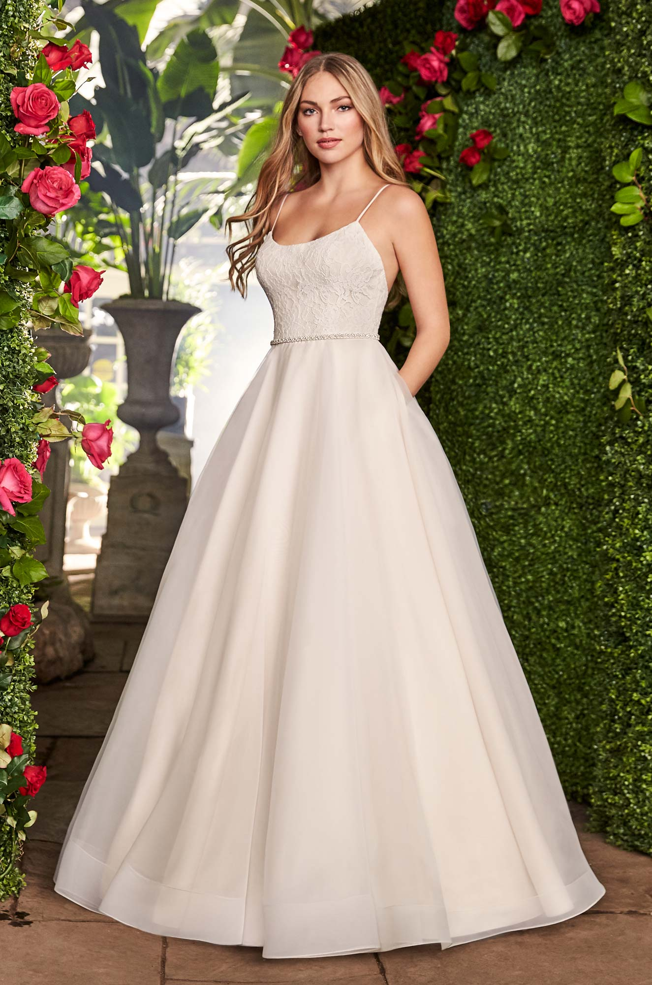 Scoop Neckline Wedding Dress – Style #2256 | Mikaella Bridal