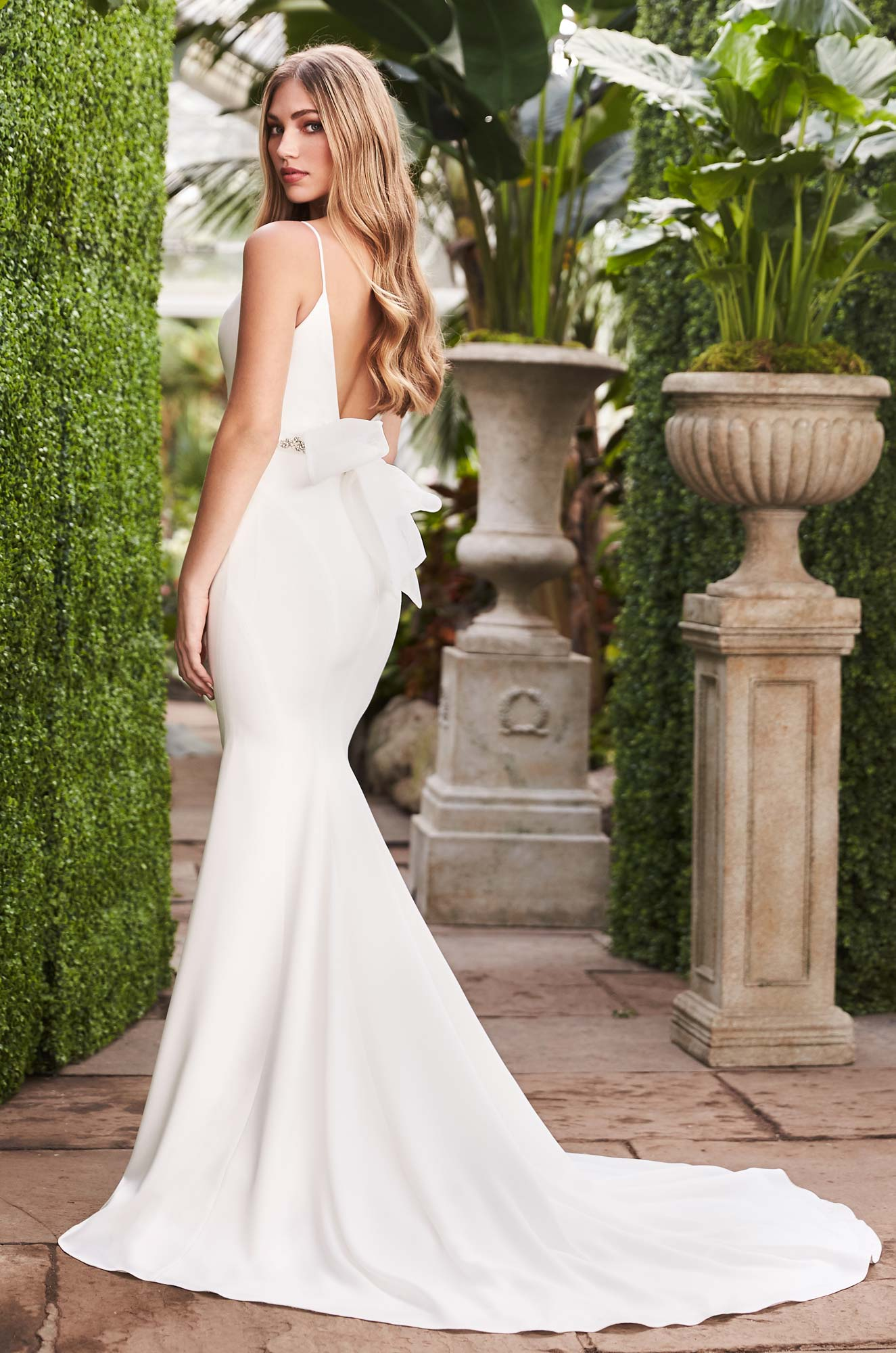Sleek Crêpe Wedding Dress - Style #2261 | Mikaella Bridal