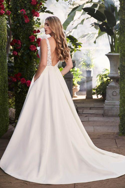 Sheer Sides Wedding Dress - Style #2263 | Mikaella Bridal