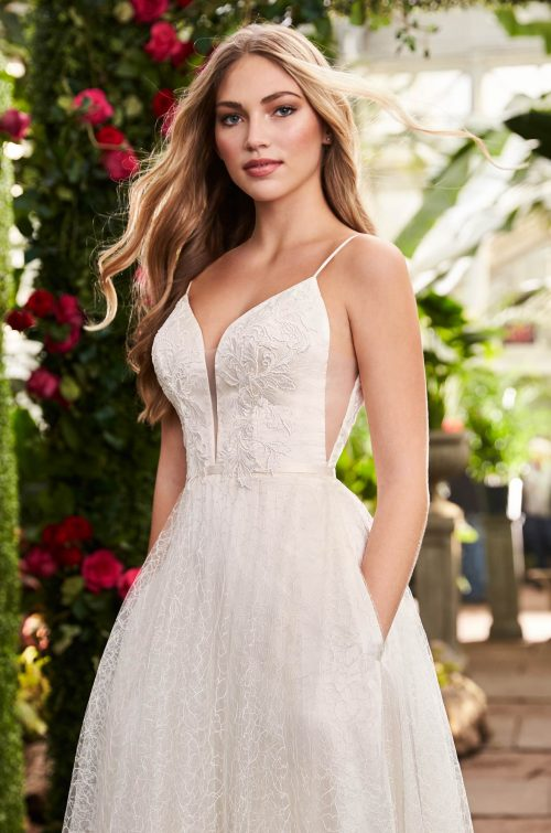 Dreamy Embroidered Wedding Dress - Style #2264 | Mikaella Bridal