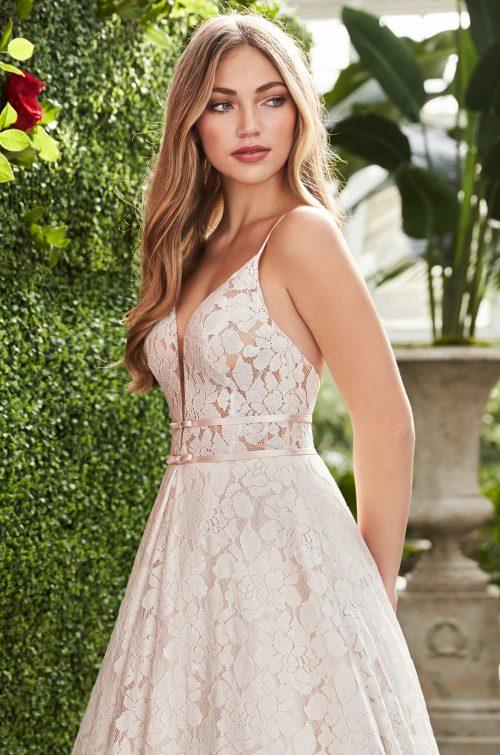 Open Back Lace Wedding Dress - Style #2266   Mikaella Bridal