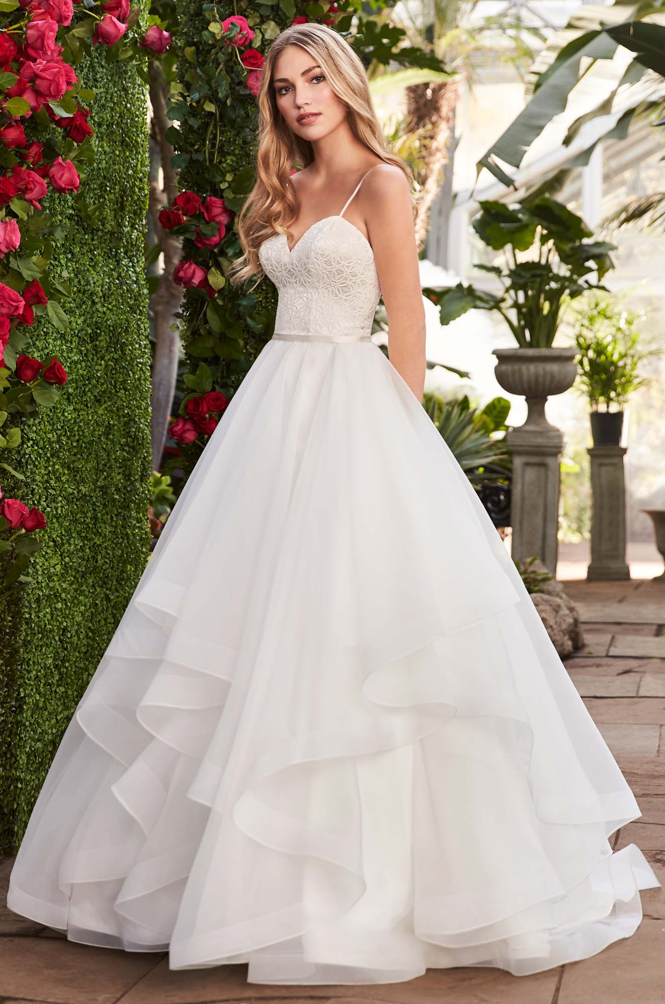 Layered Organza Wedding Dress - Style #2270 | Mikaella Bridal