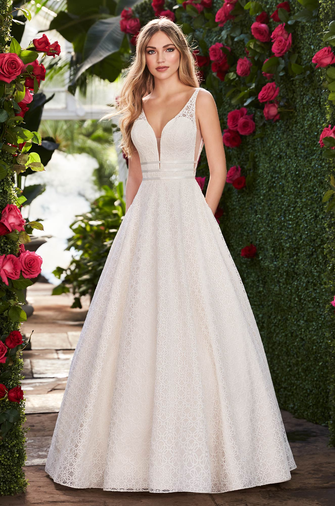 Ball Gown Wedding Dress With Pockets – Style #2273 | Mikaella Bridal