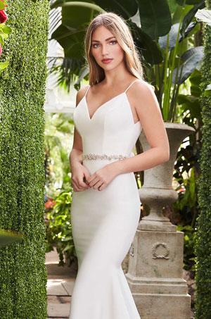 Sleek Crêpe Wedding Dress - Style #2261 | Mikaella Bridal