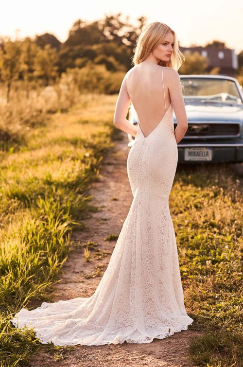 Casually Elegant Lace Wedding Dress - Style #2280 | Mikaella Bridal