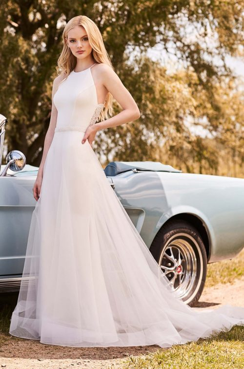 Lightweight Overskirt Wedding Dress - Style #2283 | Mikaella Bridal