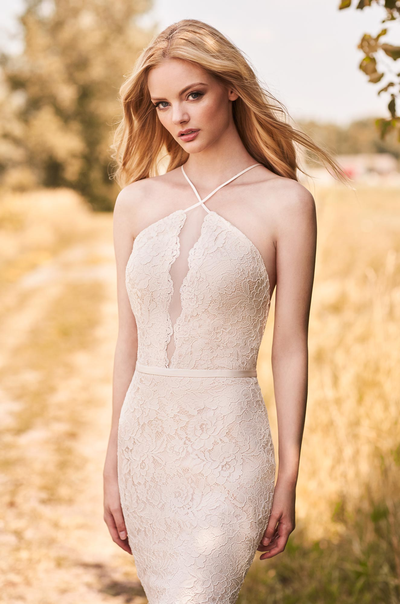 Alluring Halter Neckline Wedding Dress - Style #2286 | Mikaella Bridal