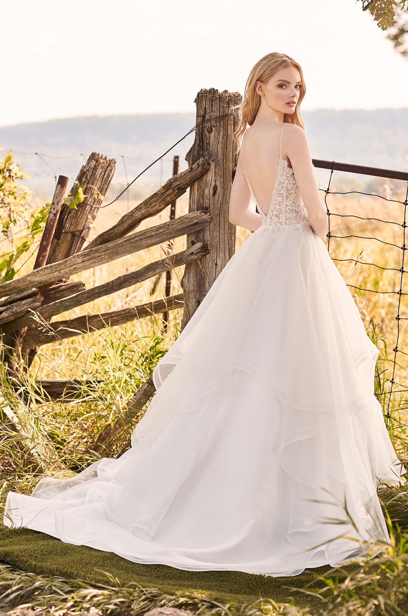 Fairytale Organza Skirt Wedding Dress - Style #2287 | Mikaella Bridal