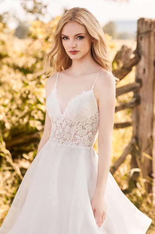 Fairytale Organza Skirt Wedding Dress - Style #2287 | Mikaella Bridal
