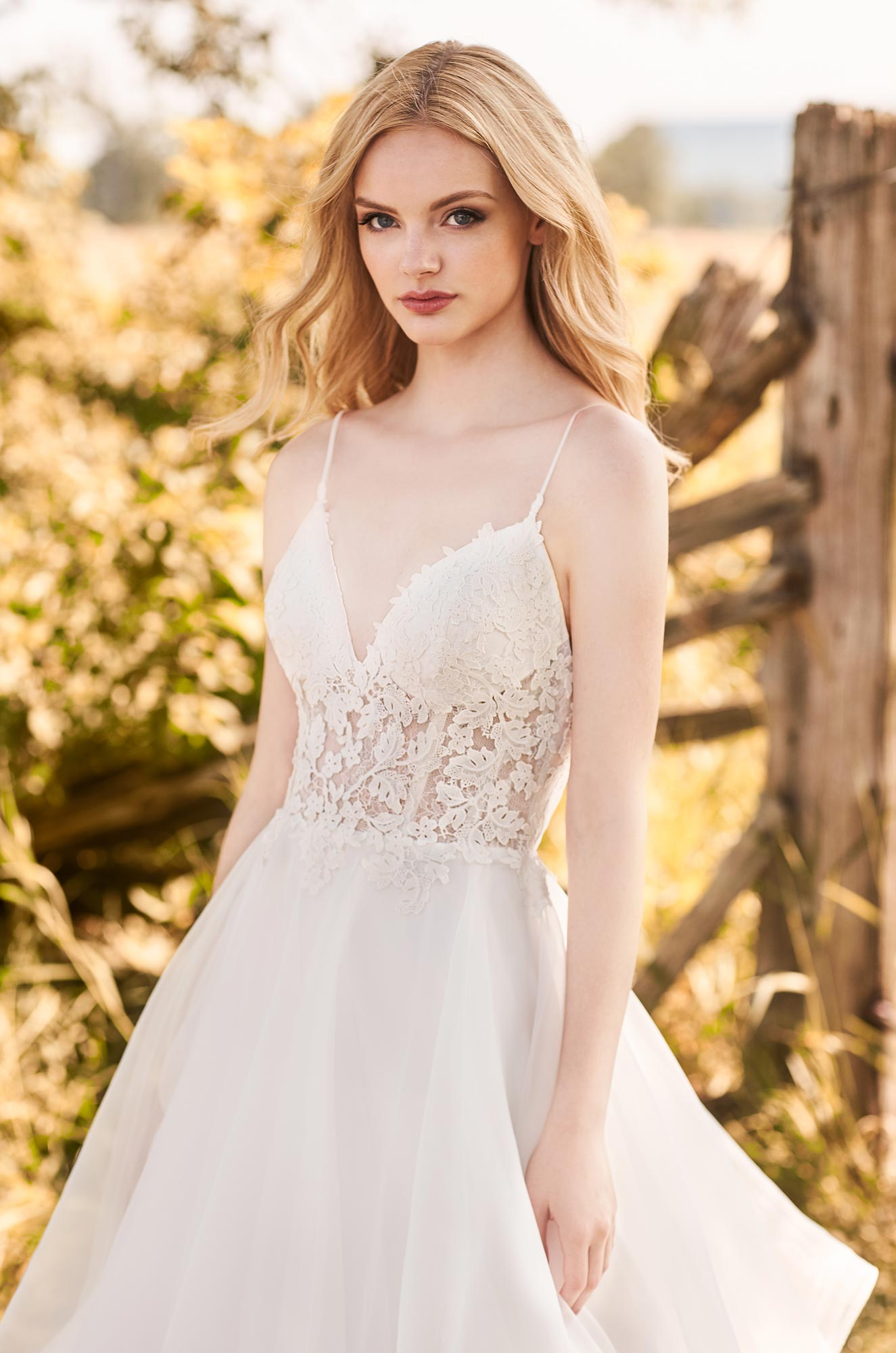 Fairytale Organza Skirt Wedding Dress – Style #2287 | Mikaella Bridal