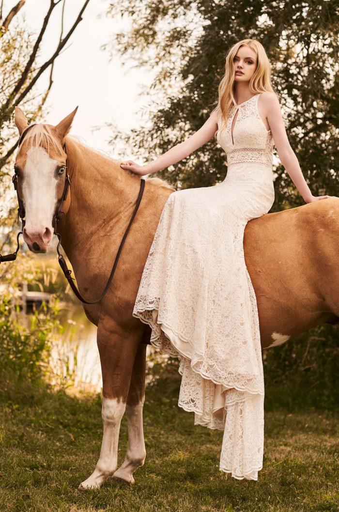 Front Keyhole Lace Wedding Dress - Style #2288   Mikaella Bridal