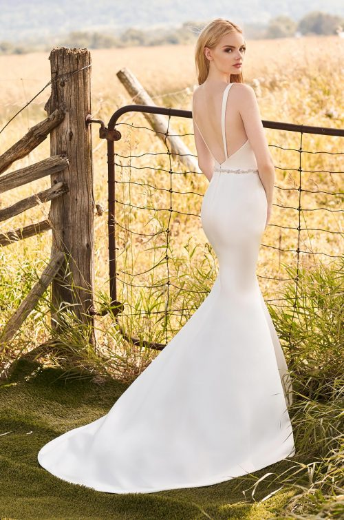 Glimmering Belt Wedding Dress - Style #2290 | Mikaella Bridal
