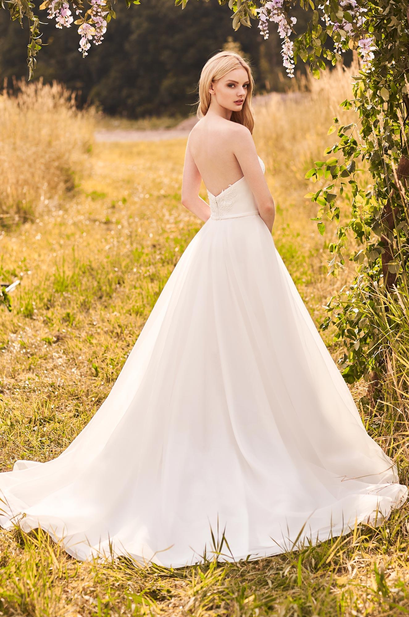 Beaded Strapless Wedding Dress - Style #2291 | Mikaella Bridal