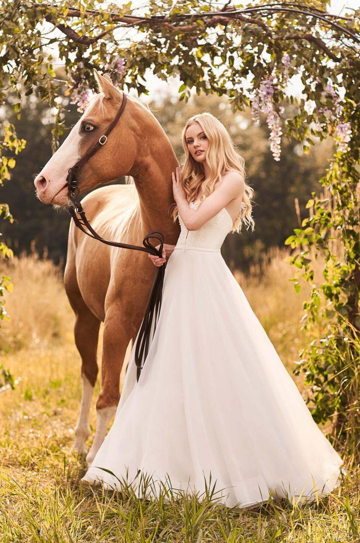 Beaded Strapless Wedding Dress - Style #2291   Mikaella Bridal