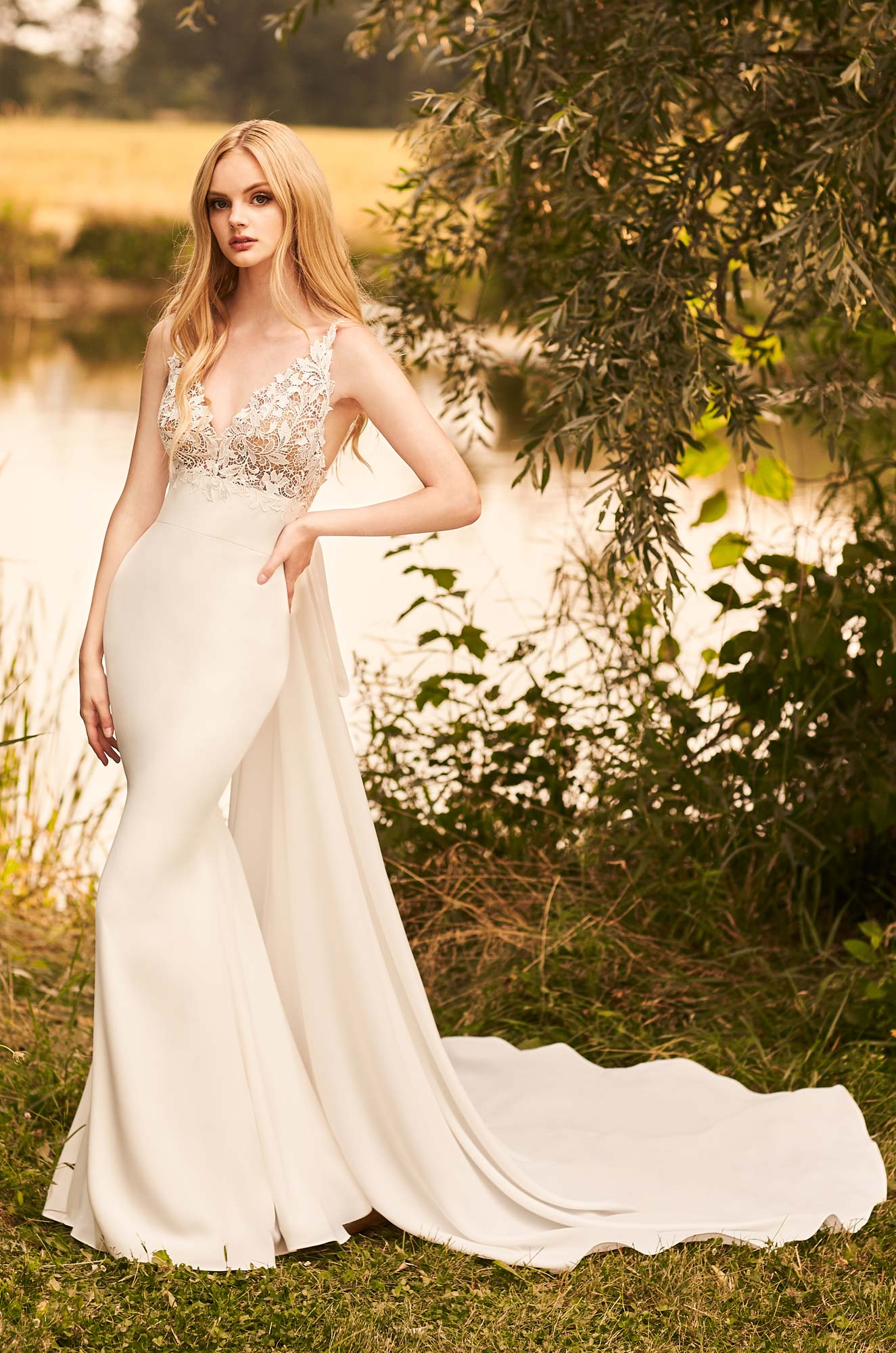 Versatile Detachable Train Wedding Dress - Style #2292 | Mikaella Bridal