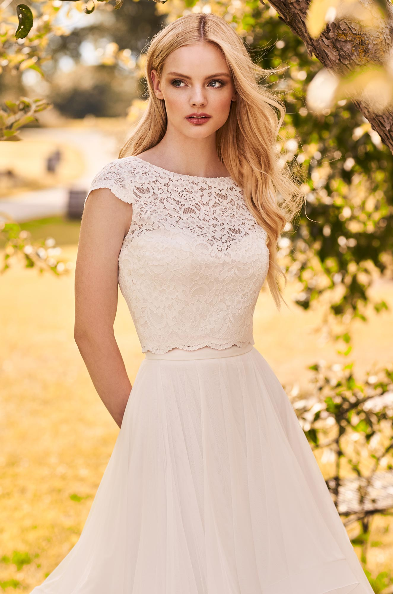 Chic Two Piece Wedding Dress – Style #2293 | Mikaella Bridal