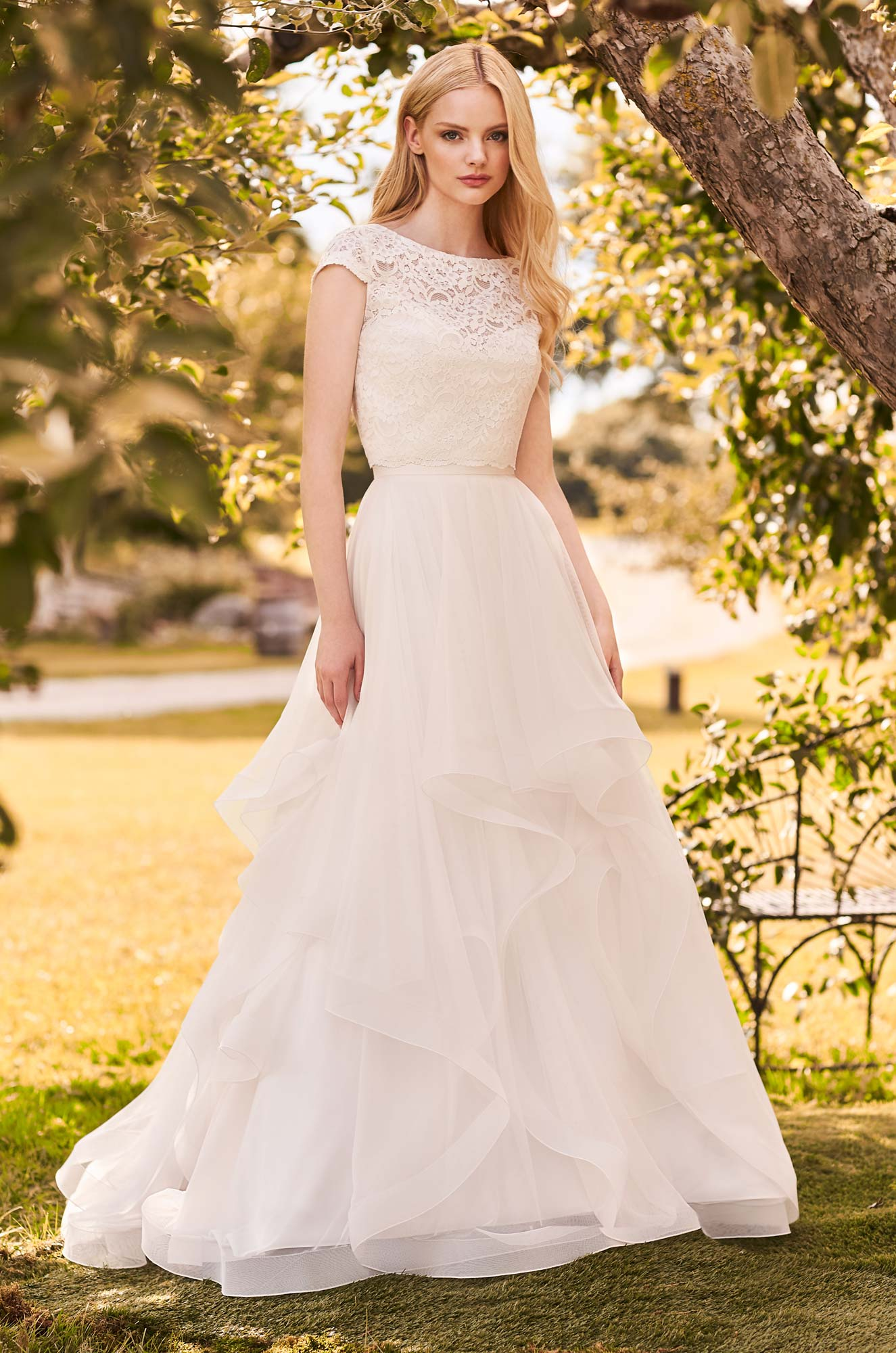 Chic Two Piece Wedding Dress - Style #2293 | Mikaella Bridal
