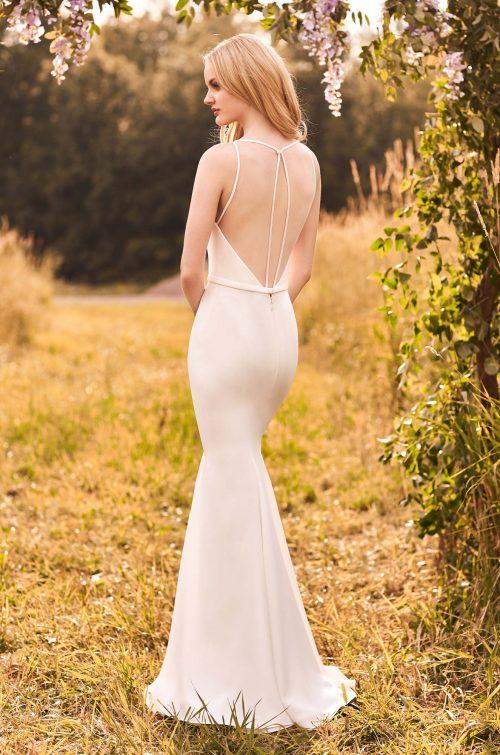 Modern Crepe Wedding Dress - Style #2294 | Mikaella Bridal