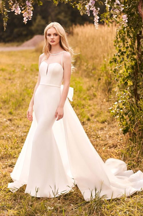 Modern Crepe Wedding Dress - Style #2294 | Mikaella Bridal