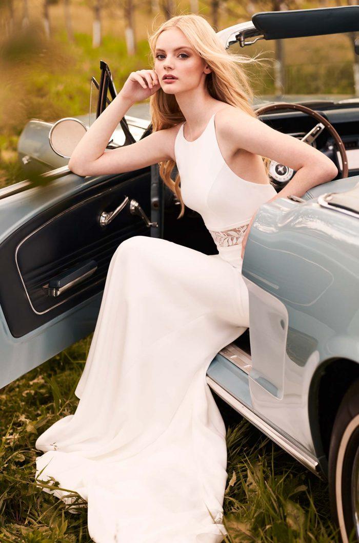 Refined Elegance Crepe Wedding Dress - Style #2295   Mikaella Bridal