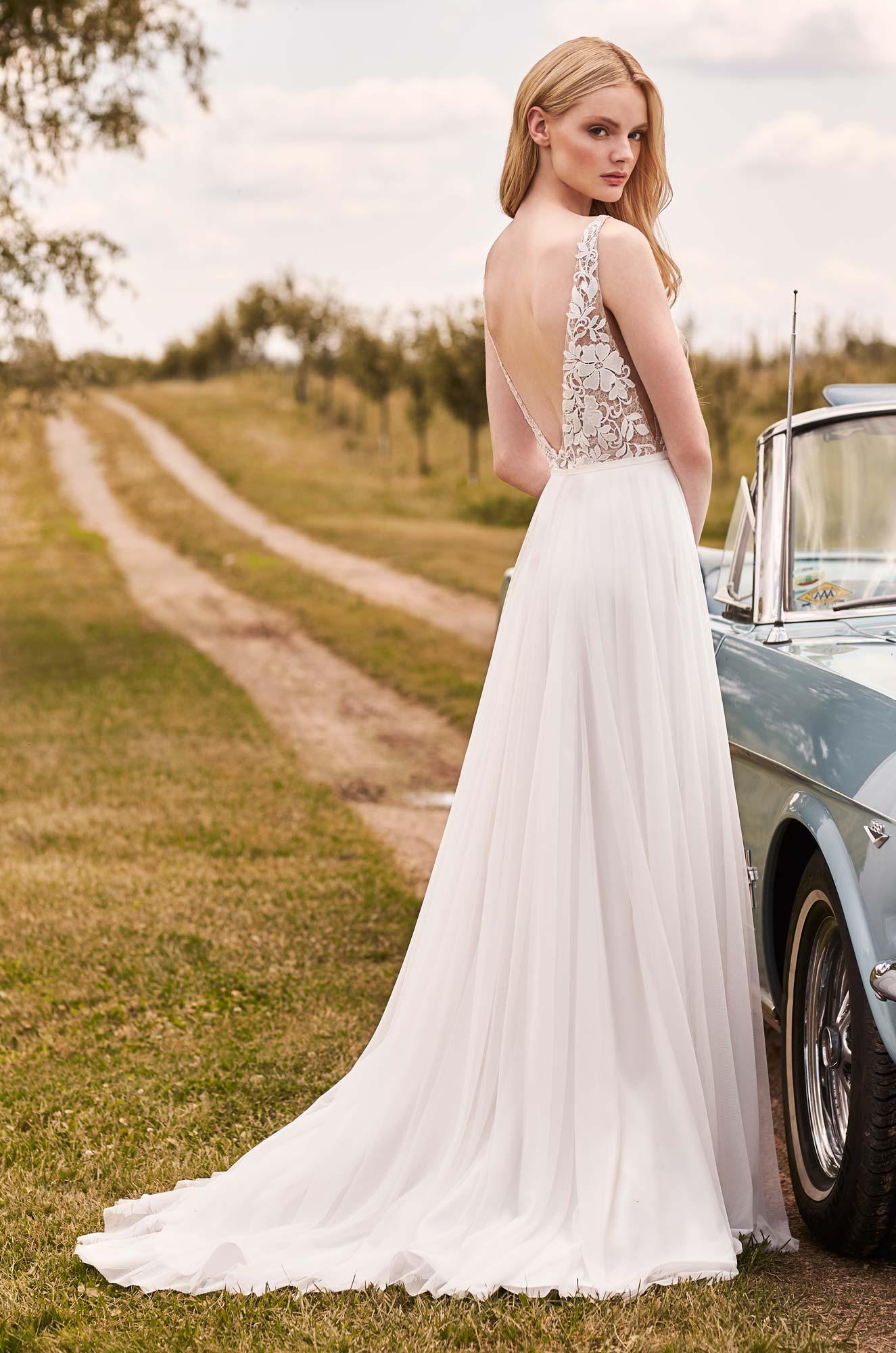 Graceful A-Line Wedding Dress - Style #2296 | Mikaella Bridal