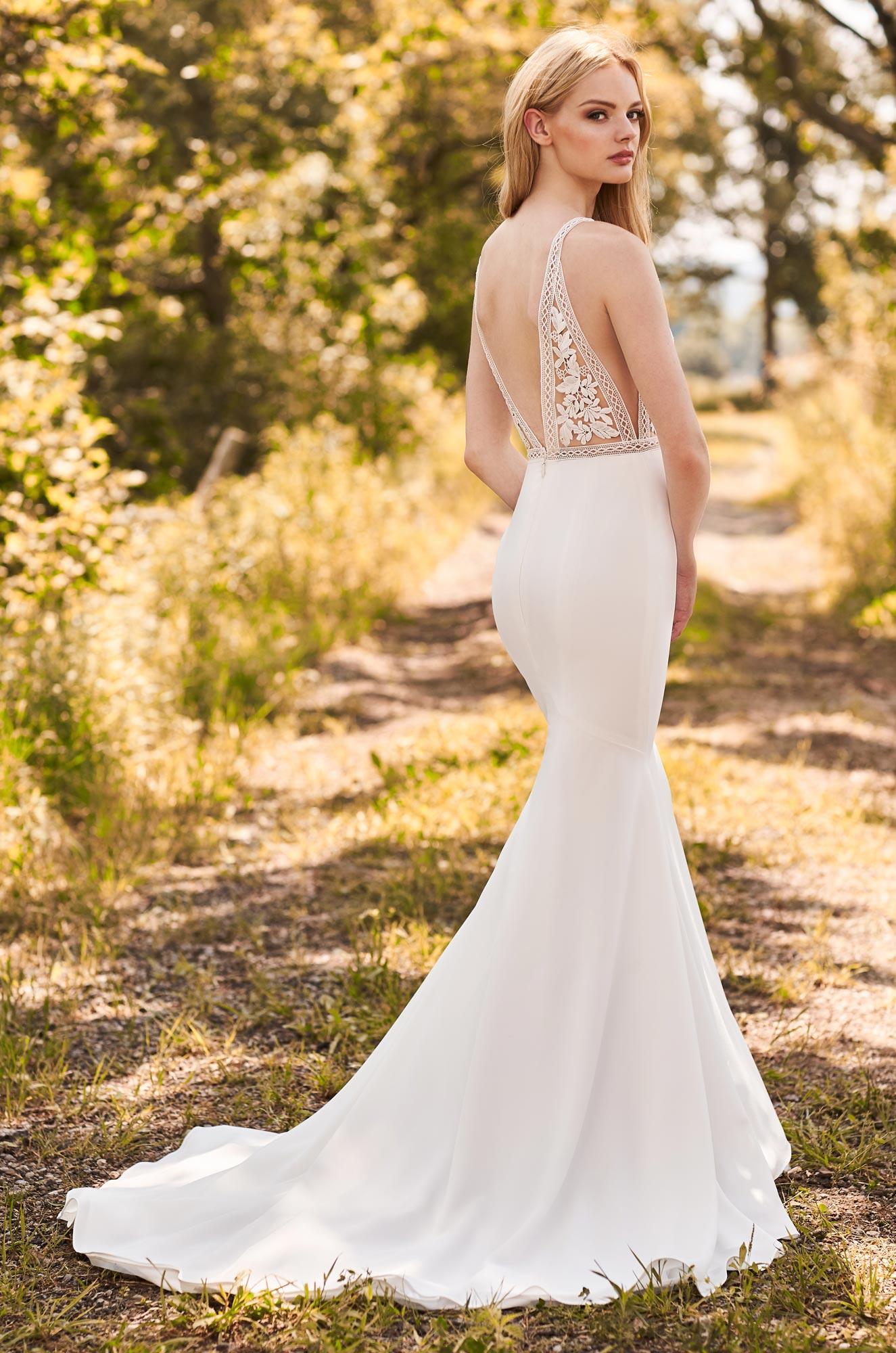 Breathtaking Lace Bodice Wedding Dress - Style #2297 | Mikaella Bridal