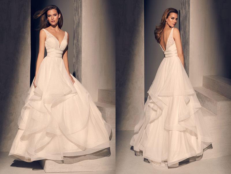 Mikaella Unique Winter Wedding Theme Style 2218