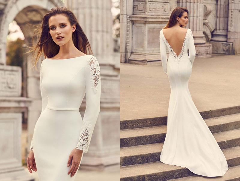 Mikaella Unique Winter Wedding Theme Style 2237