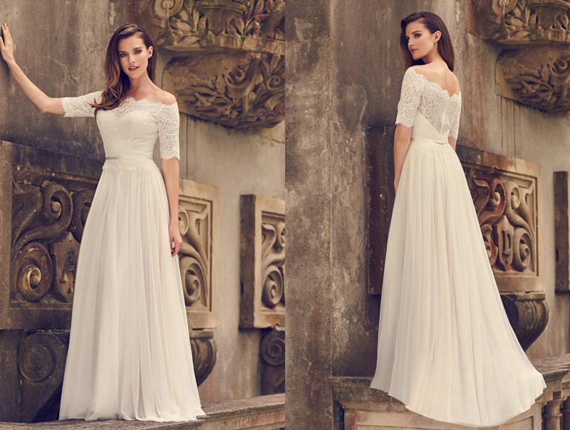 Mikaella Unique Winter Wedding Theme Style 2242