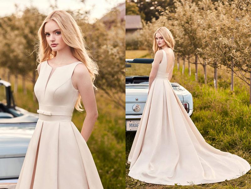 Mikaella Unique Winter Wedding Theme Style 2284