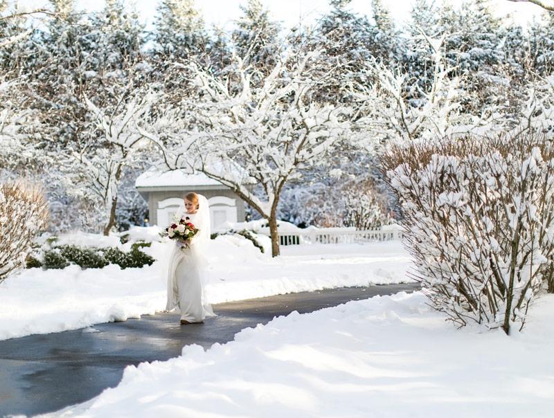 Mikaella Unique Winter Wedding Theme Rustic