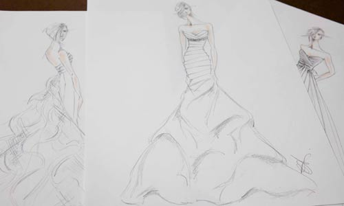 Mikaella Bridal About Us Sketches