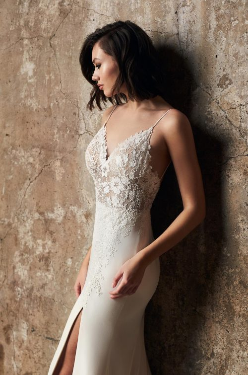 Fashionable Side Slit Wedding Dress - Style #2300 | Mikaella Bridal
