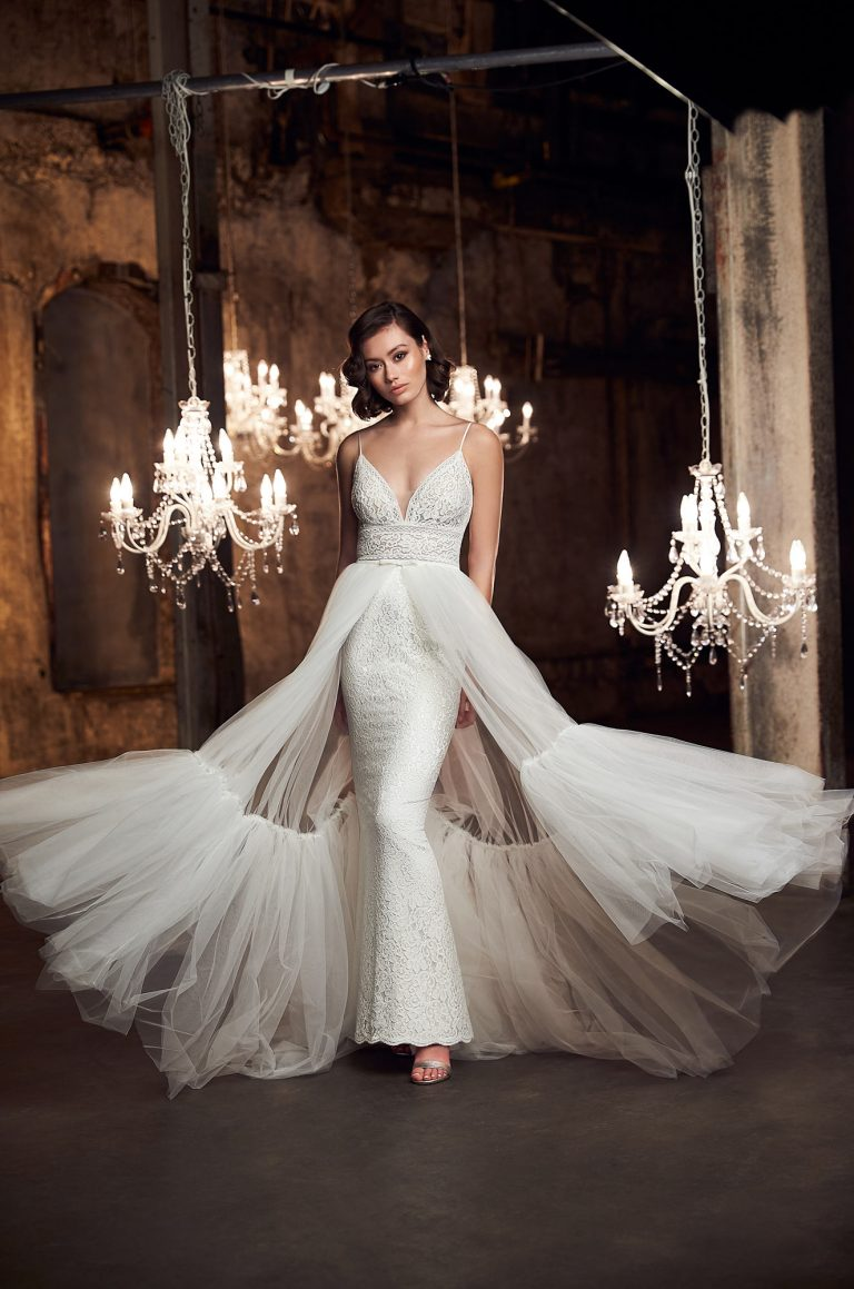Glamorous Lace Wedding Dress - Style #2301 | Mikaella Bridal