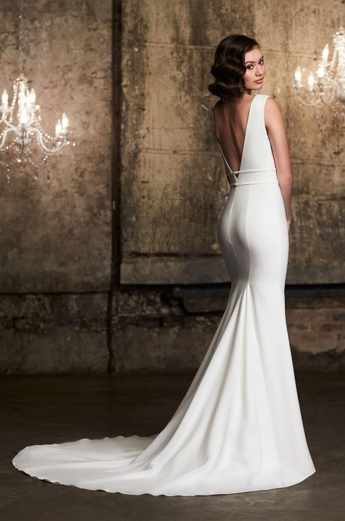 Stunning Sleeveless Wedding Dress - Style #2302 | Mikaella Bridal