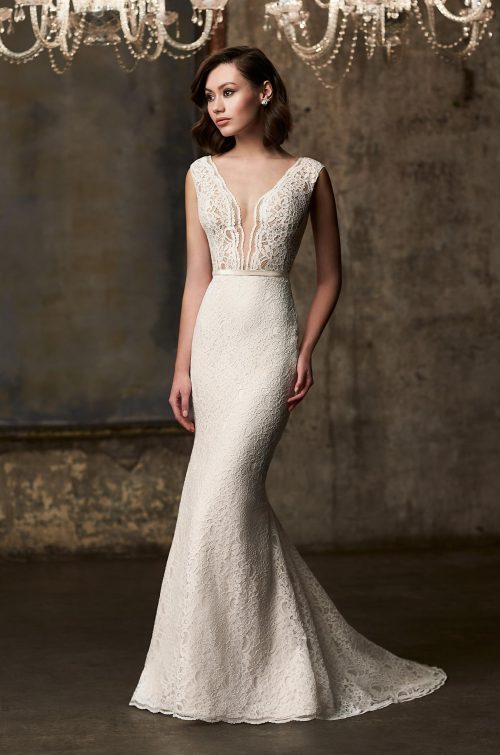 Sophisticated Lace Wedding Dress - Style #2303 | Mikaella Bridal