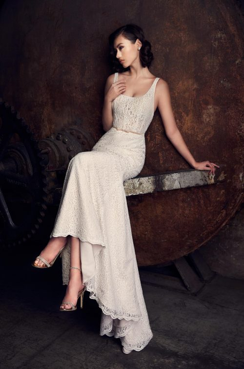 Charming Lace Wedding Dress - Style #2307 | Mikaella Bridal