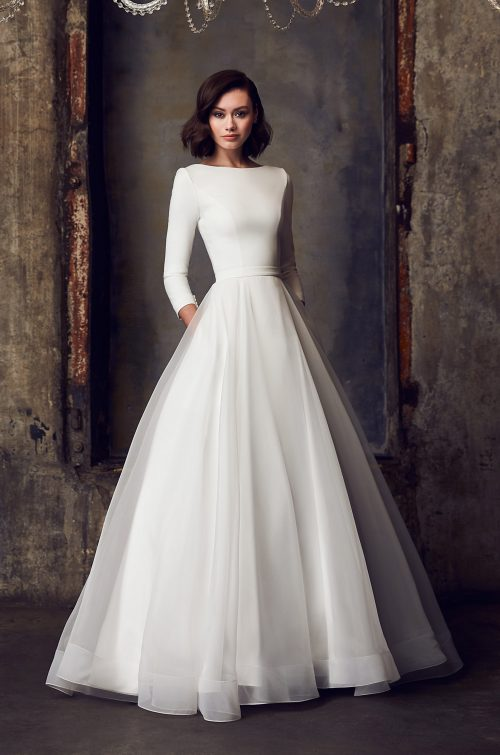 Modest Ball Gown Wedding Dress - Style #2308 | Mikaella Bridal